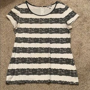 Express lace stripe top